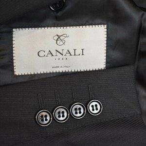 38S Canali 1934 Current Black Subtle Stripe COAT